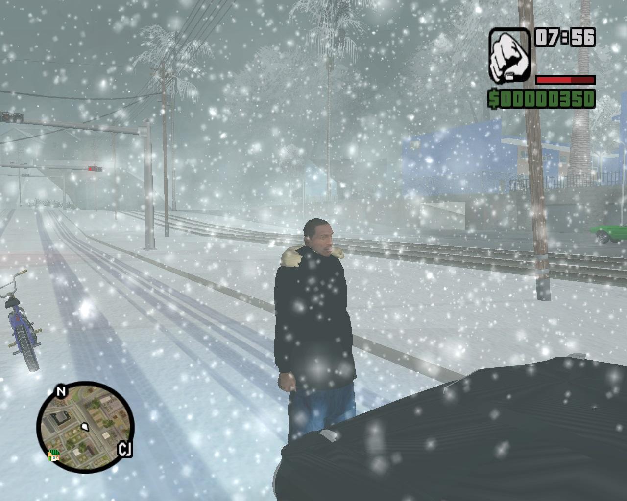 Скачать GTA San Andreas Зима