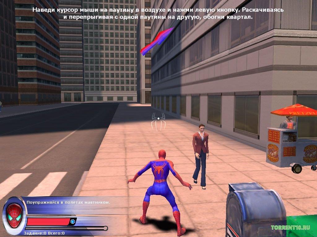 Человек-паук 2 / spider-man 2 the game (2004) pc скачать через.